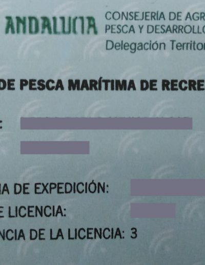 Licencia de pesca - Renovación